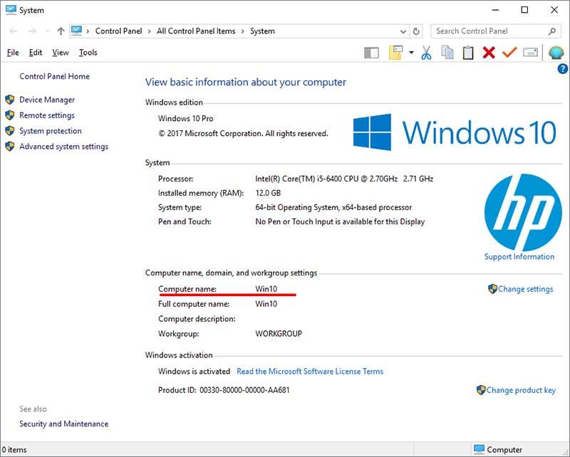 Properti Sistem Windows