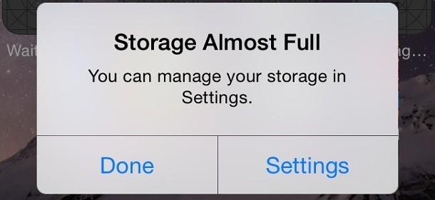 Tidak Ada Penyimpanan yang Cukup di iPhone Saya