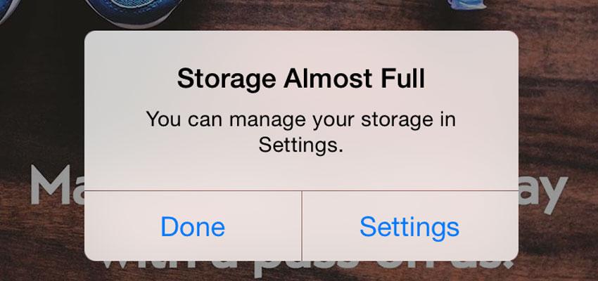 iPhone Storage Full Alert